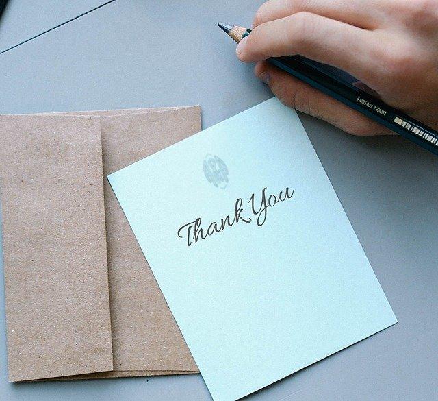 감사 편지 마음