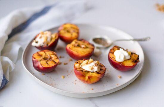 grill peach